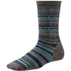 Smartwool Women's Ethno Graphic Crew Sock Taupe Size Small