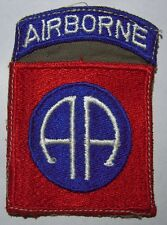 WW2 82nd Airborne Division - 1 Piece Patch W/ Cloth in between Center - Used