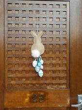 SET OF 2 VERY CUT EASTER BUNNY & EGGS HANGING DOOR DECORATION