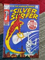 1970 Silver Surfer #15 Battling The Human Torch Higher Grade