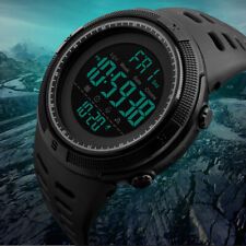 Mens Tactical Digital LED Waterproof Military Sports Stopwatch Army Wrist Watch