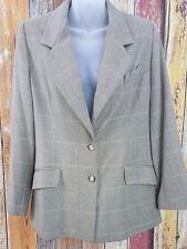 Vintage Burberry Women's Wool Cashmere Blazer Sz 12P Petite Made in USA