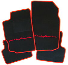 Floor mats for Peugeot 406 coupe black velours 1997-2005 Pininfarina  rot