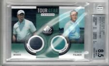 2014 SP Game Used TIGER WOODS/ARNOLD PALMER Dual Tour Gear SHIRT BGS 8.5 NM-MT+
