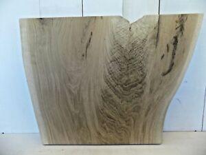 """37"""" x 22"""" CROTCH WOOD End Table Top Live Edge White Oak Slab Board Lumber Wood"""