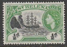 1953 ST HELENA 1/2d BADGE SG 153 L/M/MINT