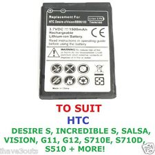 Quality 1500mAh Replacement Battery HTC Desire Incredible Rhyme Salsa Vision