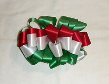 Girls hair bow clip Small 4x4 Mexican Flag Tri-color for 5 de Mayo Holiday NEW!
