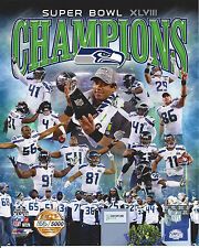 2014 SEATTLE SEAHAWKS SUPER BOWL XLVIII CHAMPIONS NUMBERED COLLAGE PHOTO