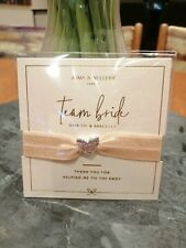 Team Bride by Joma Jewellery - Bracelet - Free Gift Bag - Wedding / Hen Party