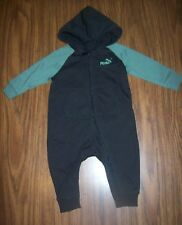 Baby Boys PUMA One-Piece Outfit - Size 12 Months  New NWT MSRP $38  BLACK//GREEN