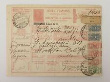 1934 ITALY - Parcel Stamps - Postal History
