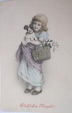 """""""Neujahr, Kinder, Hund, Disteln"""" 1905, M.M. Vienne Nr. 238 ♥ (20880)"""