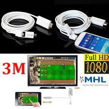 3m micro usb mhl hdmi hdtv adaptador de cable para Android Smartphone 5 / 11pin