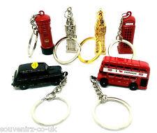6 Die Cast London Icons Miniature Souvenirs England City Tags Keyrings Key Chain