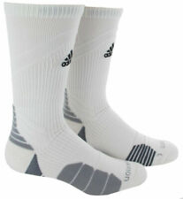 ADIDAS Menace Athletic Crew Socks XL 12-16 White Soccer Basketball Football
