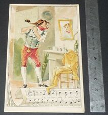 Chromo chocolat de royat 1910-1914 popular song rhyme cadet rousselle 4
