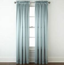 "*Royal Velvet Hilton Rod-Pocket Curtain Window Panel 54""Wx63""L Abyss Green NEW"