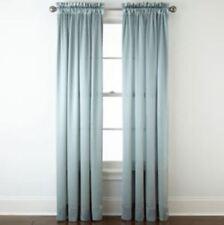 "*Royal Velvet Hilton Rod-Pocket Curtain Window Panel 54""Wx63""L Abyss Green NEW"