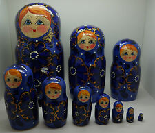 Russian Matryoshka Handmade Nesting Doll (10 pieces)