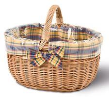 Einkaufskorb mit Ausschlag, Bügelkorb, Weidenkorb, Picknickkorb, Tragekorb,