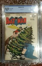 Batman #33 CBCS 5.5 WHITE (Not CGC) Penguin Appearance & Christmas Cover