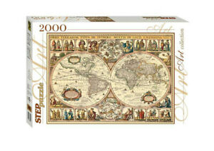 Historical Map of the World 2000 pc.Jigsaw Puzzle for Kids.Safe and Non-toxiс.