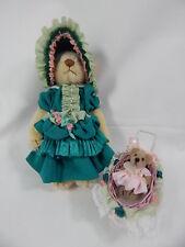 """World of Miniature Bears 5""""  German Mohair Bear Tina & Tot #887"""