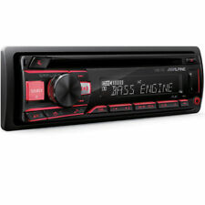 ALPINE Single DIN CD/AM/FM Car Stereo w USB Front Aux & Bass Engine | CDE-170