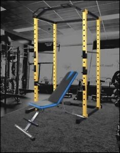 1,000lb Cap Power Rack with Pull-up and Dip Station, Plus Bench - Free Shipping