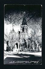 Worthington Minnesota Mn 50/60s Rppc old Brick 1St Lutheran Church on Corner