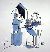 [ Humor - Presse ] Guy Valls - Dritte Ostern - Zeichnung Original Unterzeichnet
