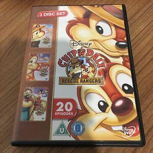 Chip N Dale Rescue Rangers Volume 1, 2 & 3 DVD (2012, 3 Disc Set) Cert U Reg 2