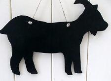 LRG chèvre forme Tableau Noir Blackboard Anniversaire Noël Farm Animal Billy Nounou