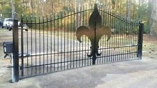 Wrought Iron Style Driveway Entry Gate 13 Foot Wide Ds Residential Yard Security