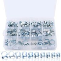 78-Pcs Mini Fuel Injection Line Style Hose Clamps Assortment Kit Fuel Injec Y6X2