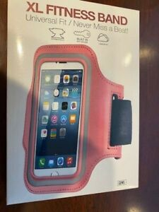 """Armband Cell Phone Holder Neoprene Reflective Pink - Universal Fits 5.1"""" Screen"""