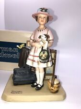"""1981 Norman Rockwell """" Vacation's Over """" Figurine in box with Coa"""