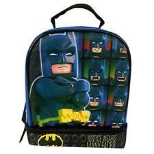 """Lego Batman 9.5"""" Dual Compartment Lunch Bag with Cape bonus Detachable Cape"""