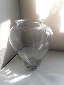 Large Clear Unbranded Glass Vase Urn