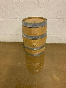 3 Gallon Used Raw Oak Whiskey Barrel