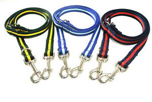 Police Style Dog Training Lead Double Ended Multi Functional 25mm Soft Webbing