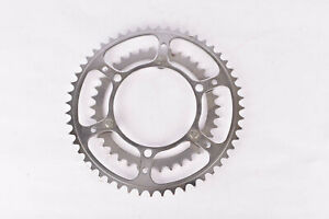 NOS Stronglight 3-pin chromed steel Chainring with 52/38 teeth and 116 mm BCD