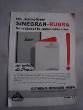 "Werbeblatt""Sinegran-Rubra-Folienkombination""Siemens-Reiniger-Veifa,Siemens 1920"