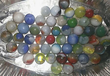 60 Vintage Marbles:  different colors and sizes: PRE 1960