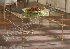 Neiman Marcus BARSTOW Coffee Table Glass Iron MINIMALIST Horchow Cocktail Sleek