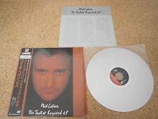 Phil Collins ~ No Jacket Required EP Japan LD Laserdisc OBI Sheet Shrink Genesis