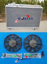 Aluminum Radiator + FANS LEXUS SC300 JZZ30 93-98 /TOYOTA SOARER JZZ31 MT 91-00