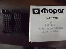 mopar bulk head connector nos mopar jeep 34178240 bulk head connector discontinued part