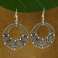 925 Sterling Silver Hoop Drop Dangle Women Indian Earrings New Fashion Jewelry